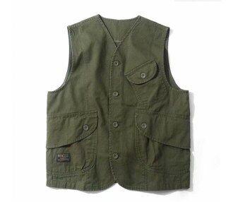 Áo Vest Cotton Mùa Thu Nhật Bản, Áo Khoác Túi Hộp Thời Trang Nam Nhiều Túi Amekaji Không Tay Áo Khoác, Người Đàn Ông Giản Dị Áo Ghi Lê thumbnail