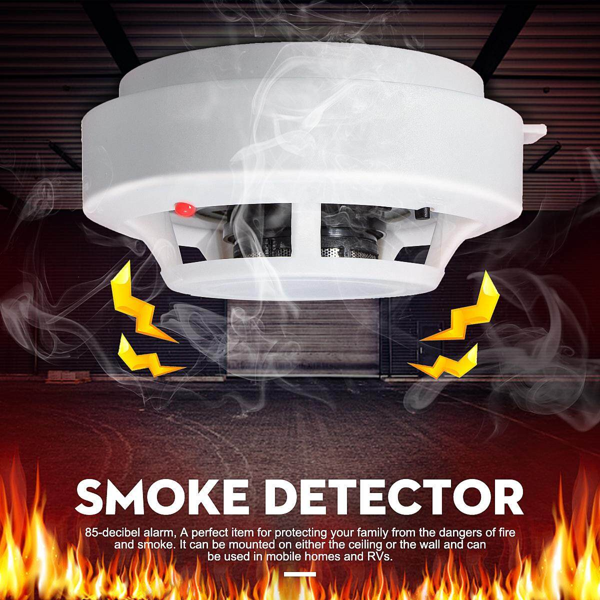 【Free Shipping + Super Deal + Limited Offer】Wireless Smoke Detector Home Security Fire Alarm Photoelectric Sensor System -- White