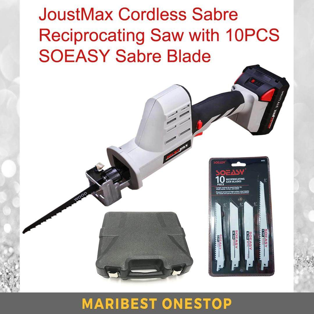 Joustmax Jst-Ss21vkit Cordless Reciprocating Saw With 10pcs Soeasy Blade By Maribest Onestop.