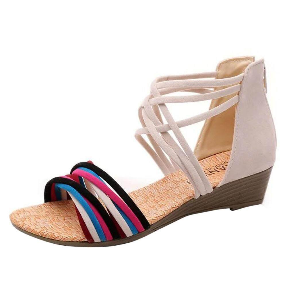 8a7d6801e817 Women Summer Bohemia Slippers Flip Flops Flat Sandals Beach Thong Shoes  BG 36
