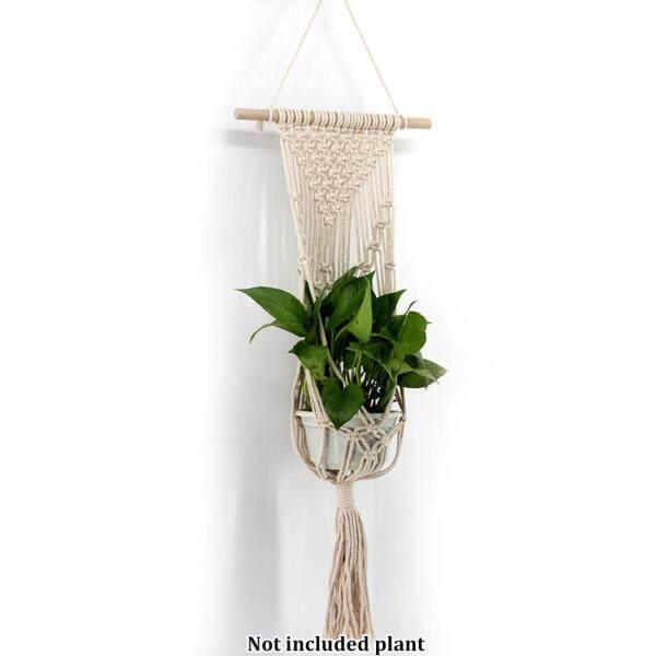 Pocket Hanger Bohemian Macrame Plant Knitting Bedroom Home Decor Wall Hanging Tapestry Rope Net Bag Art Handmade Woven Flowerpot Basket