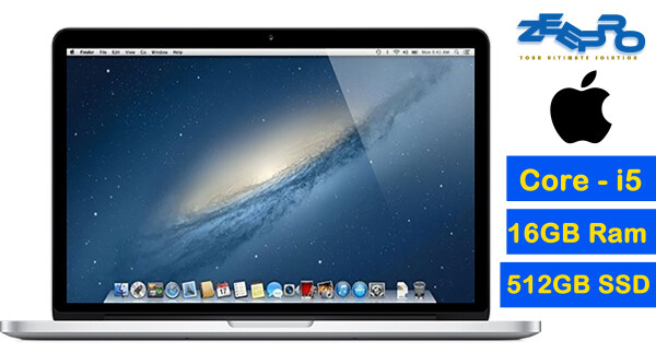 Aple Macboook Pro 13 (2012) Core-i5 - 16GB Ram - 512GB SSD - MacOs 10.15- Catalina - Refurbished - Free Warranty Malaysia