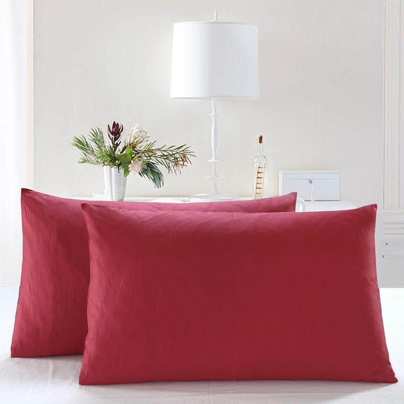 Malonestore Cotton Pillowcase Set of 2 Long - Staple Combed Pure Natural Cotton Pillowcase Soft & Silky Sateen Weave
