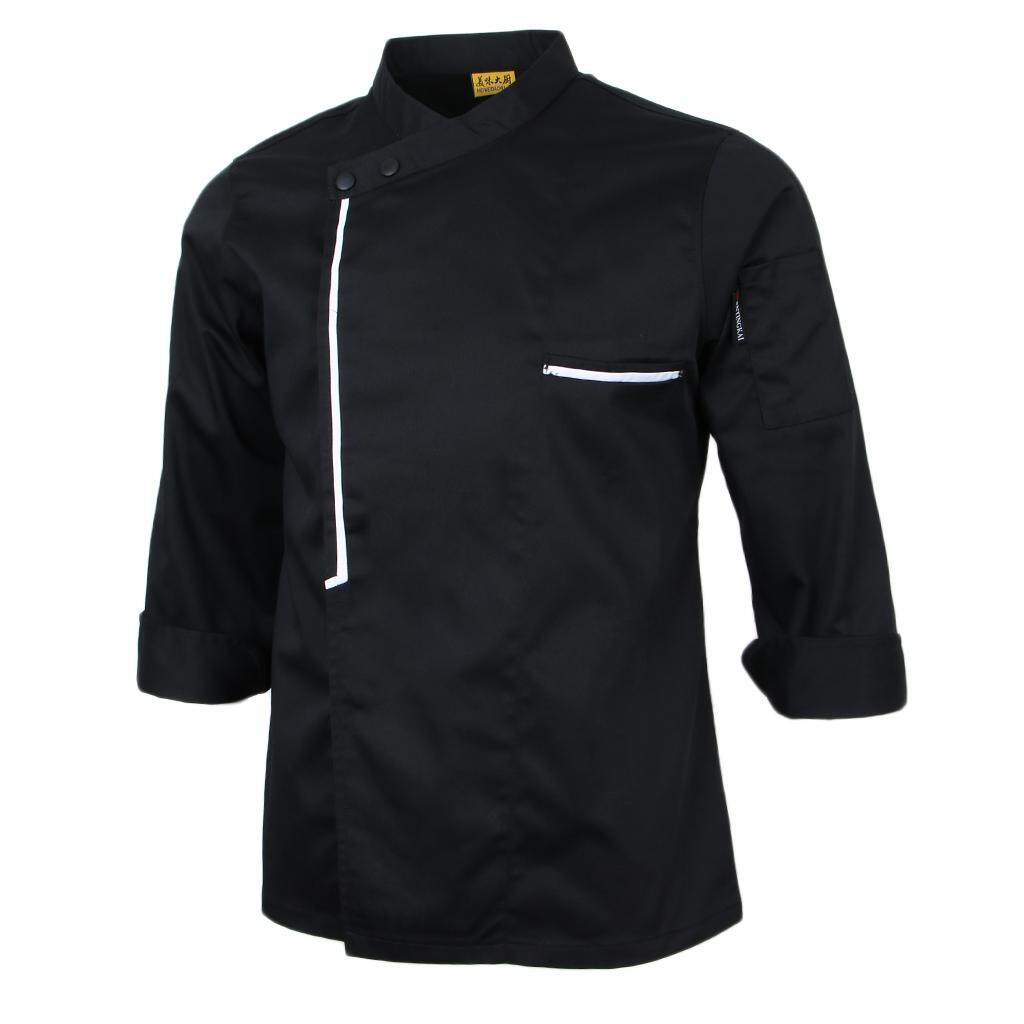 Blesiya Men's Womens Chef Apparel Vintage Long Sleeve Chef Jacket Cook Work Coat Top