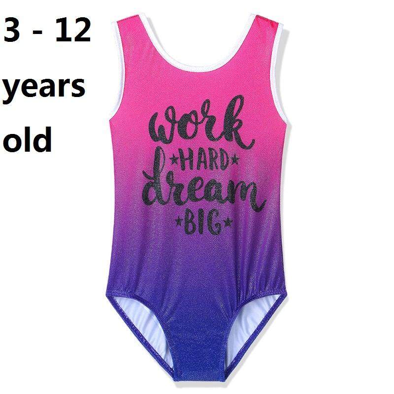 ad49f4ce4ec9a 3-12 years old size girls fashion girls hotpink swimwear Short Sleeve one- piece