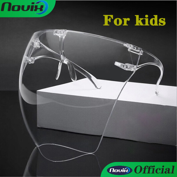 【Clear With Box】1pcs Full Face Shield For Kids adults Comfortable Large Mirror Hard ACRYLIC Protective OversizedFull Face Sunglasses Eye Protection Mask face shield for adults
