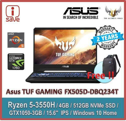 Asus TUF Gaming FX505D-DBQ234T 15.6  FHD IPS Laptop Black Malaysia