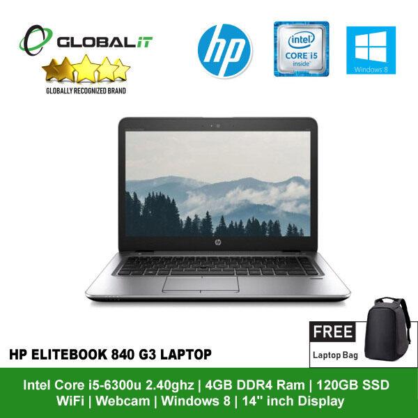 (Refurbished Notebook) HP EliteBook 840 G3 Laptop / 14 inch LCD / Intel Core i5-6300U / 4GB DDR4 Ram / 120GB SSD / WiFi / Windows 8 / Webcam Malaysia