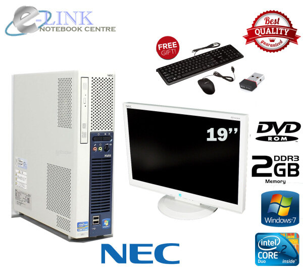 (REFURBISHED) NEC Desktop PC SET Intel Core 2 DUO / 17-22LCD / 2GB DDR2 RAM / 80GB HDD / WINDOW 7 PRO / DVD ROM Malaysia