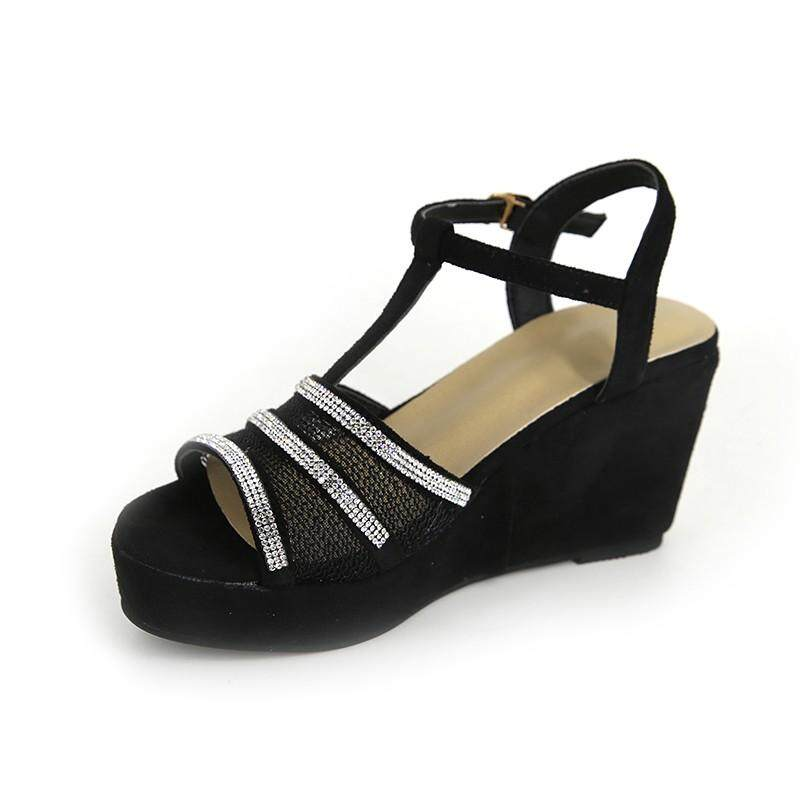 54b653921 GOULD Fashion Womens T-Strap Buckle Peep Toe Sandals Wedge With Roman  Platform Sandals