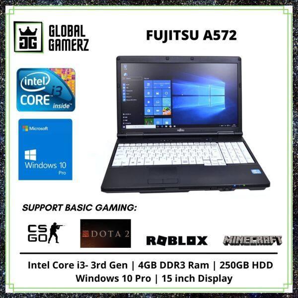 Fujitsu A572F / 15 inch Display / SSD / 4GB Ram / Intel Core i3 / Windows 10 Gaming Refurbished Laptop Malaysia