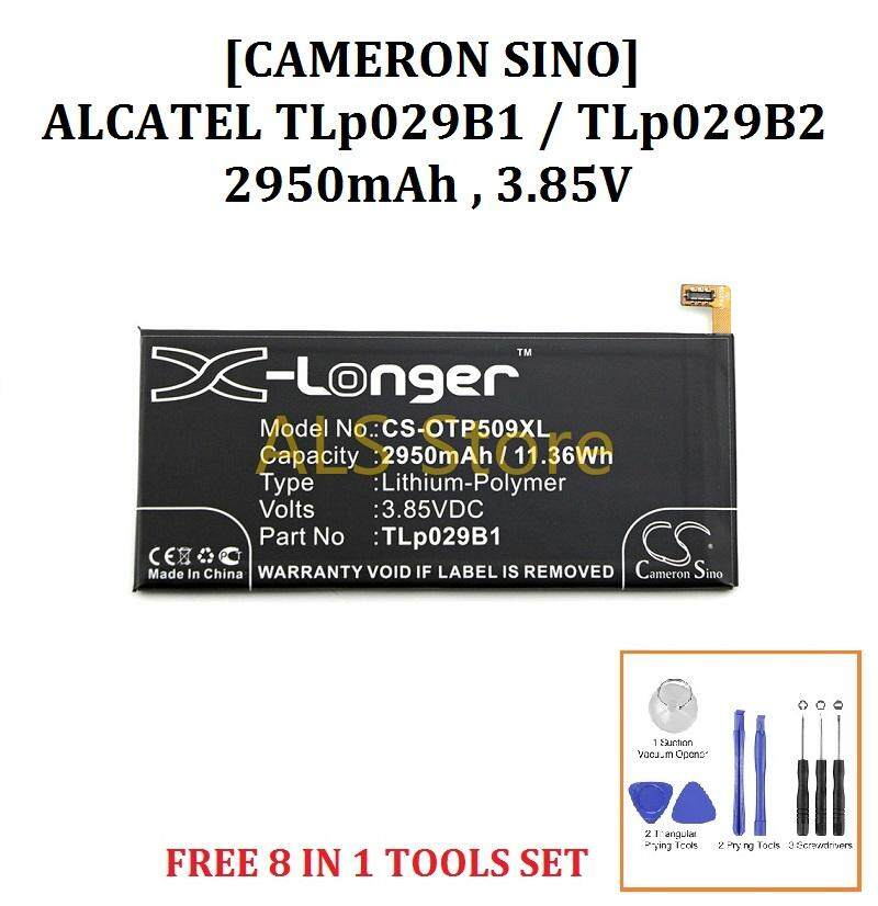 [ORIGINAL] Battery ALCATEL FLASH PLUS 2 FL02 / POP 4S OT5095 OT-5095 -  TLp029B1 / TLp029B2 - 2950mAh [CAMERON SINO X-LONGER BATTERY SERIES]