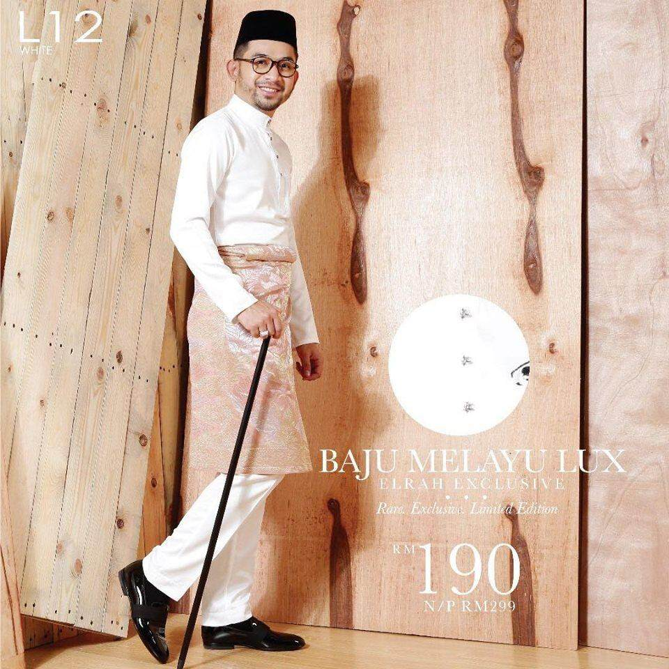 {best Seller} Baju Melayu Lelki Gentleman Luxe Edisi Raya Elrah Exclusive New Design By Sha Alyahya.
