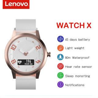 Thiết kế ban đầu Chống nước 8ATM thời trang điện Lenovo Watch X Theo dõi nhịp tim Đồng hồ thông minh thể thao Dây đeo tay chống nước thông minh cho người lớn trẻ em gái và trẻ em trai thumbnail