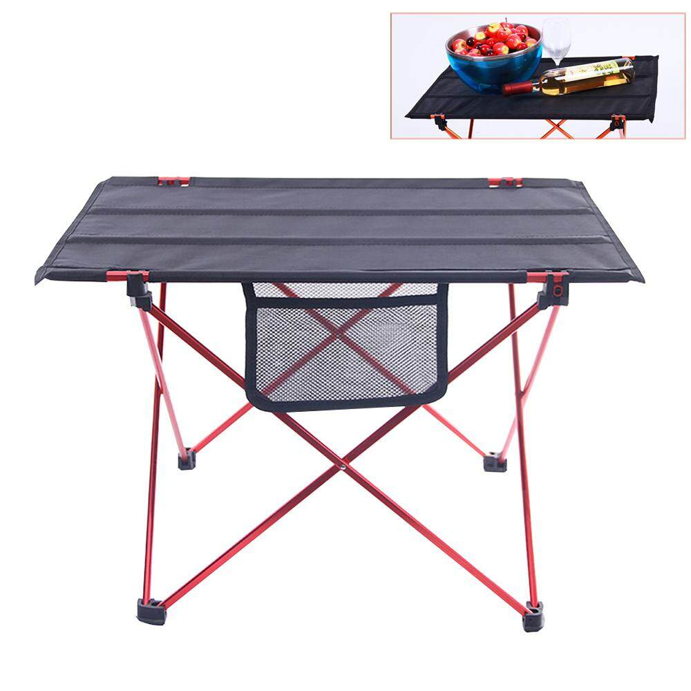 LEDMOMO Portable Foldable Table Folding Desk Aluminium Alloy Ultra-light Table Oxford Cloth Table for Camping Outdoor Picnic Hiking Travelling(Red)