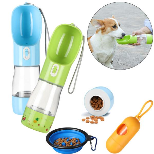TAN00609 2 trong1 Cốc nước Cầm tay Cat Slow Feeder Bowl Máy rút thức ăn cho chó con Chai nước uống cho thú cưng Bình nước cho chó Thùng lưu trữ