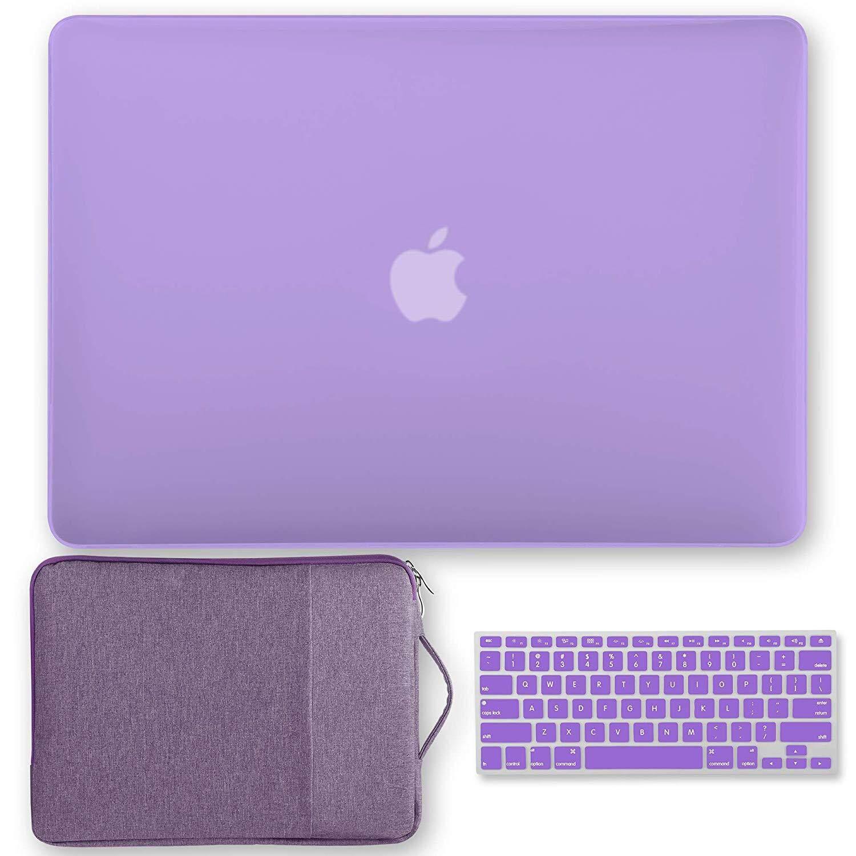 3 in 1 Bundle Black Set Soft-Touch Matte Plastic Hard Case for Macbook Air