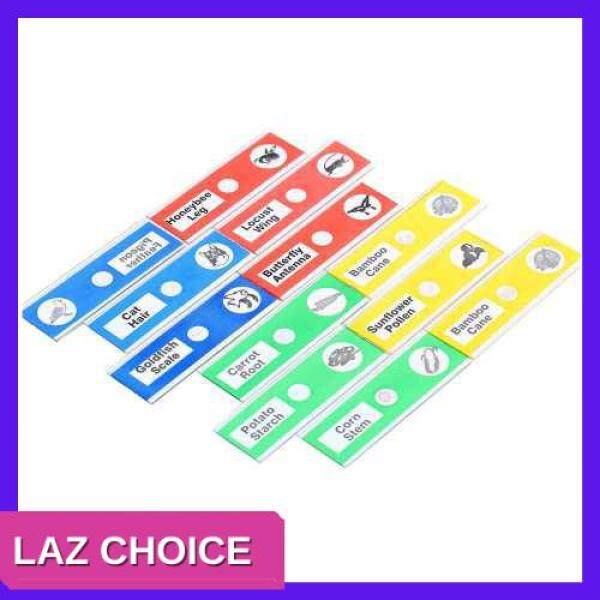 LAZ CHOICE 12Pcs Prepared Microscope Slides Specimen Animals Insects Plants Flowers Sample Biological Specimen (Standard)