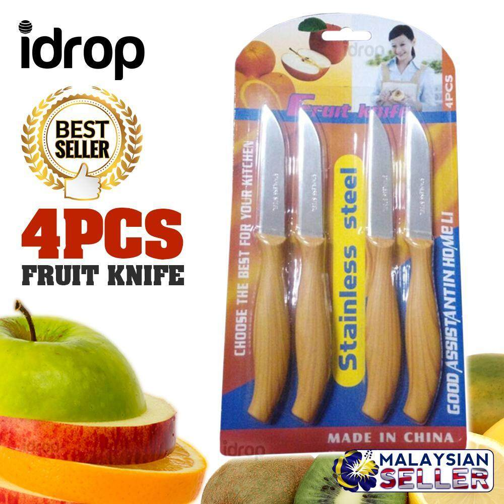 Idrop 4pcs Fruit Knife - Stainless Steel By Sell Zone.