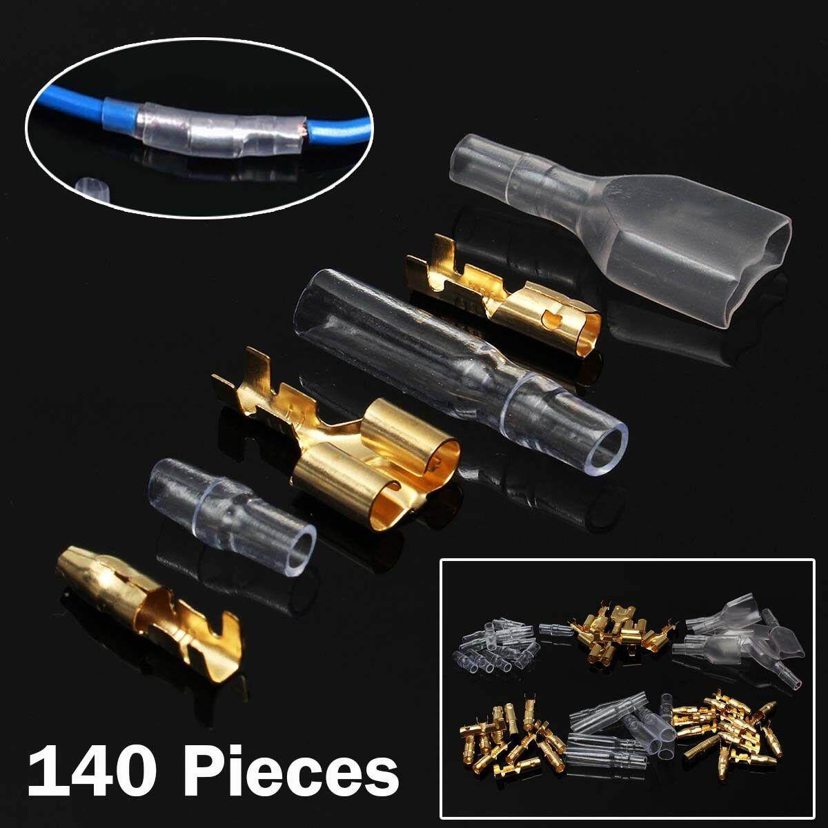 Valueshopping-mal 140pcs Car Male Female Electric Terminal Connectors &  Terminal Insulated Covers