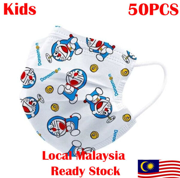 [Local Malaysia Ready Stock] Kids Cartoon Disposable Face Mask 3ply 50pcs
