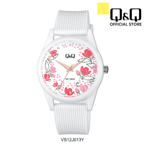 Q&Q Japan by Citizen Floral Dial Ladies Resin Analogue Watch VS12 Malaysia
