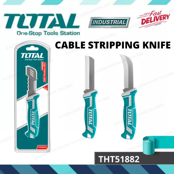 TOTAL THT51881(STRAIGHT) / THT51882(CURVED) BLADE 8 STAINLESS STEEL CABLE STRIPPING KNIVE