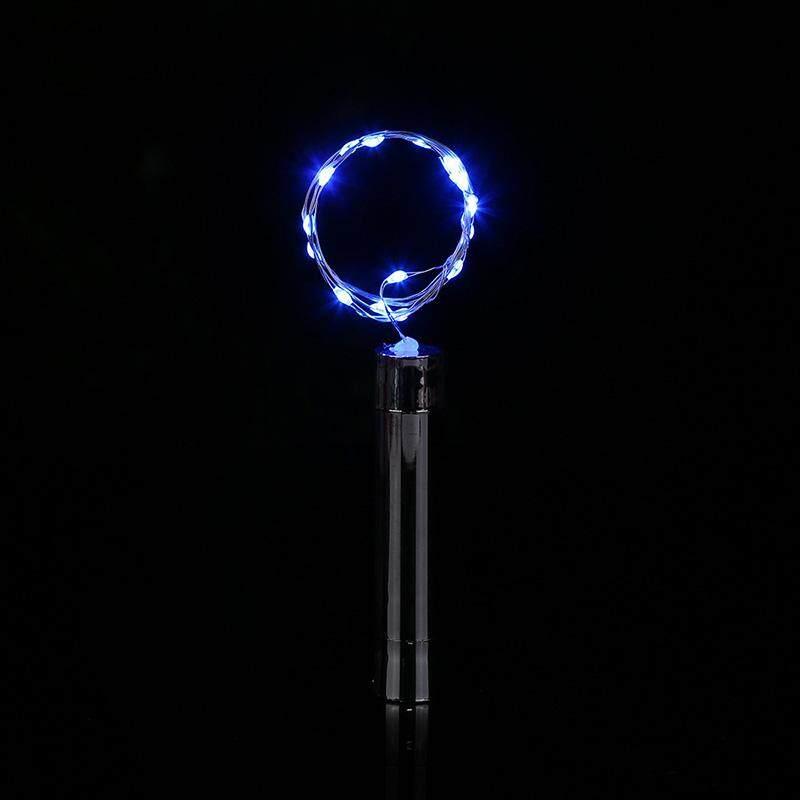 1 MÁY TÍNH 20LED Mới dùng pin Năng Lượng Mặt Trời Nút Chai Hình Dây Đèn Đồng Đêm Cổ Tích Ánh Sáng Đèn Xmas trang Trí tiệc