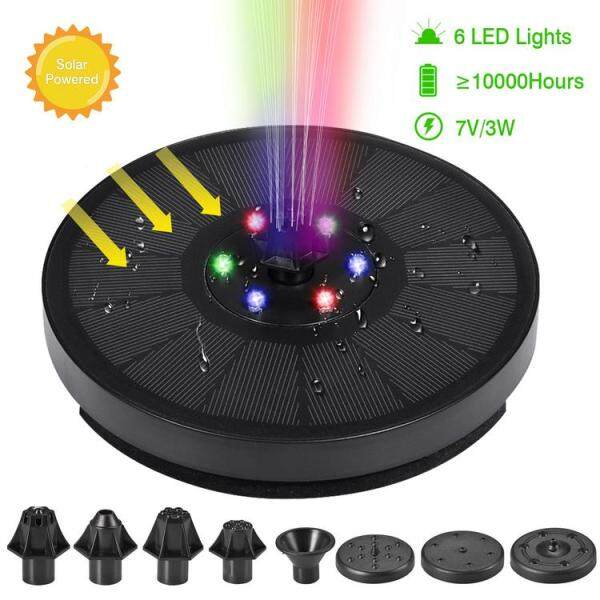 Viugreum LED Lights Solar Powered Fountain, Colorful Water Pump Fountain Pond Kit Garden Swimming Pool Watering - intl