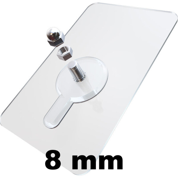 BEULIFE Self-Adhesive Wall Screw Sticker with Nut & Nut Cap Wall Hook Sticker Wall Strew Patch without Drilling & Nailing
