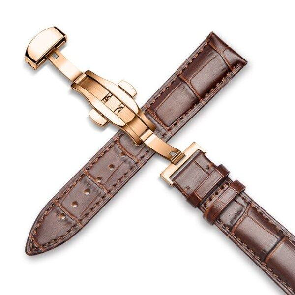 Watchband 18mm 19mm 20mm 21mm 22mm 24mm Calf Genuine Leather Watch Band Alligator Grain Watch Strap for Tissot Seiko Malaysia