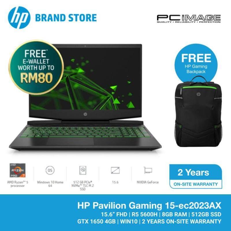 HP Pavilion 15-EC2023AX 15.6 Gaming Laptop/Notebook (AMD Ryzen 5 5600H, 8GB, 512GB, GTX 1650, W10) Malaysia