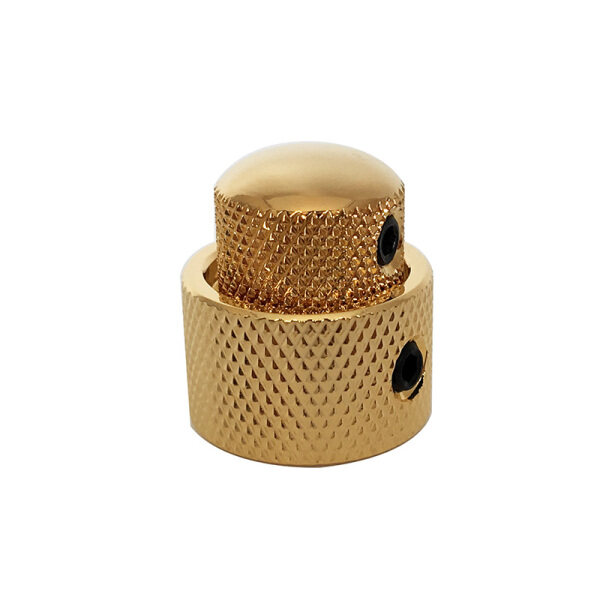 Golden Metal Stacked Dual Control Knob Concentric Set for Guitar Bass Parts,made in Republic of Korea Malaysia