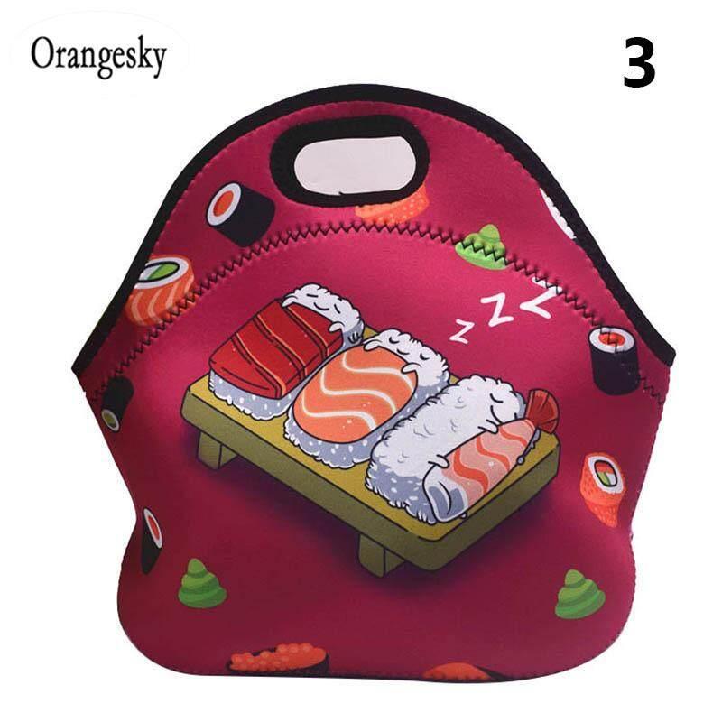 Orangesky 1 Pcs Kotak Bekal Makan Siang Tas Tote Kotak Bento Kartun Tas Tangan Bergambar untuk Pekerjaan Sekolah Piknik Di Luar Ruangan