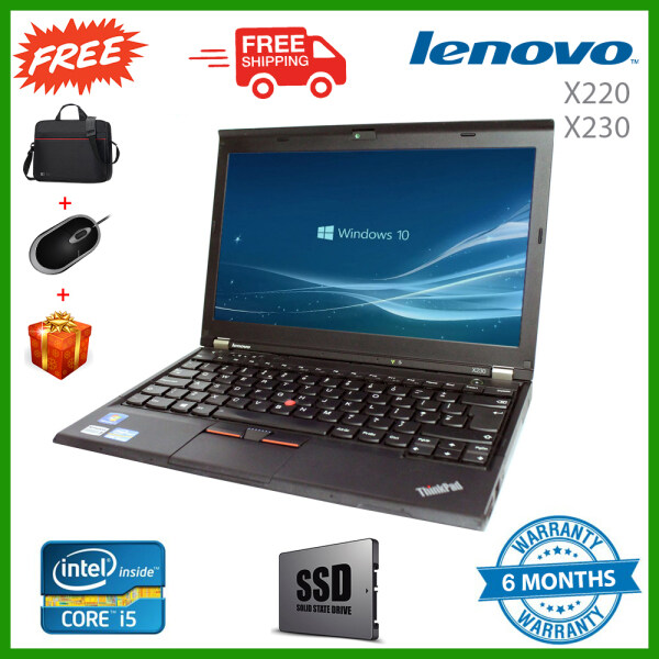 Lenovo X230 i5 3rd Gen Laptop, 4GB/8GB RAM, 240GB SSD/320GB HDD, WebCam, Win 10 Pro, 3 Months Warranty , Free Gifts Malaysia