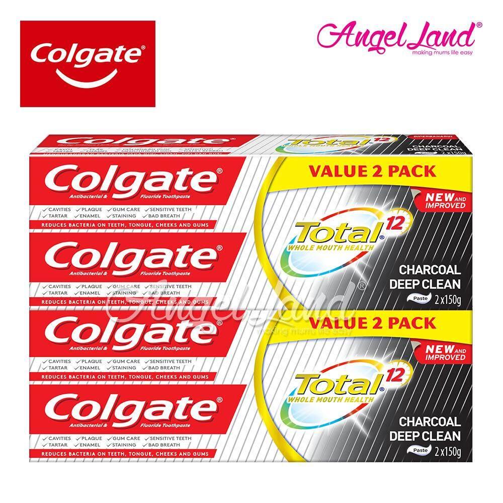 Colgate Total Charcoal Deep Clean Toothpaste Valuepack 150g x 2 [Bundle of 2]
