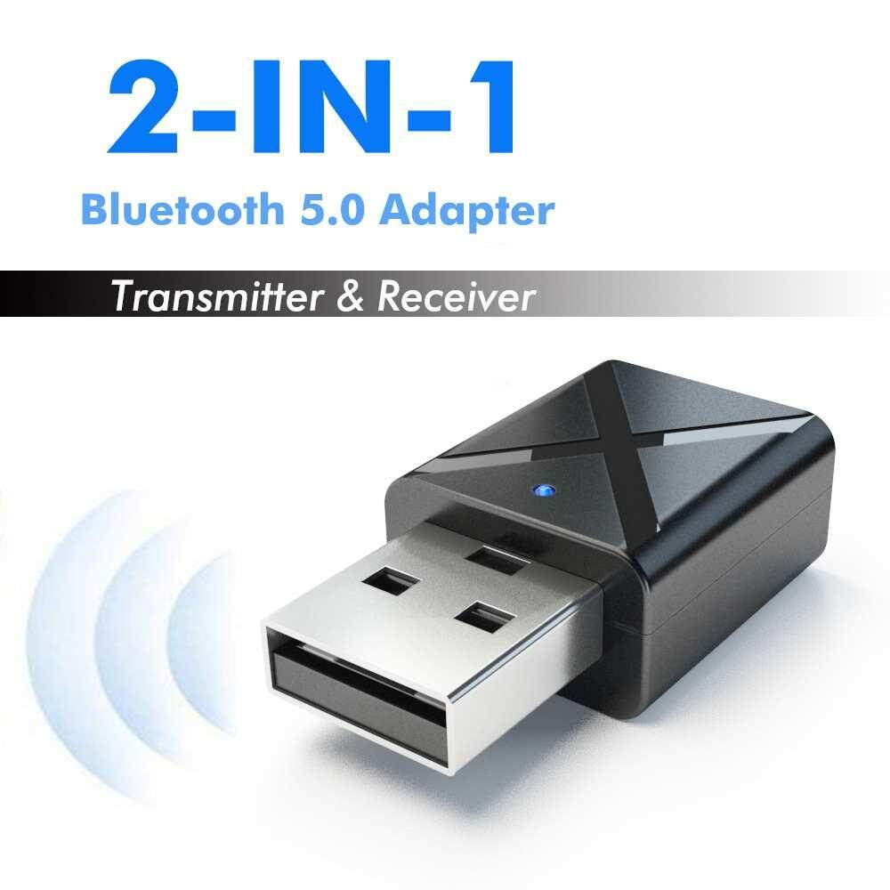 Wilk Mini Wireless Bluetooth 5.0 Transmitter Receiver 3.5mm AUX Stereo USB Adapter For Car Music Headphone Phone