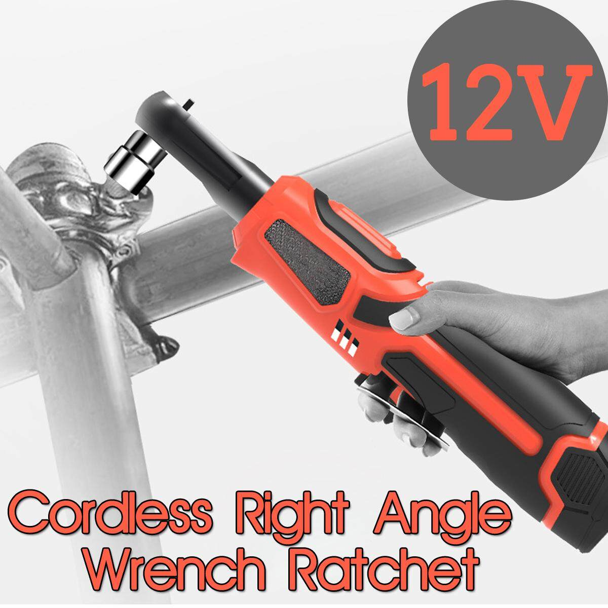 【Free Shipping + Flash Deal】Rechargeable Cordless Electric Ratchet Wrench 12V Right Angle 3/8 Wrench Tools