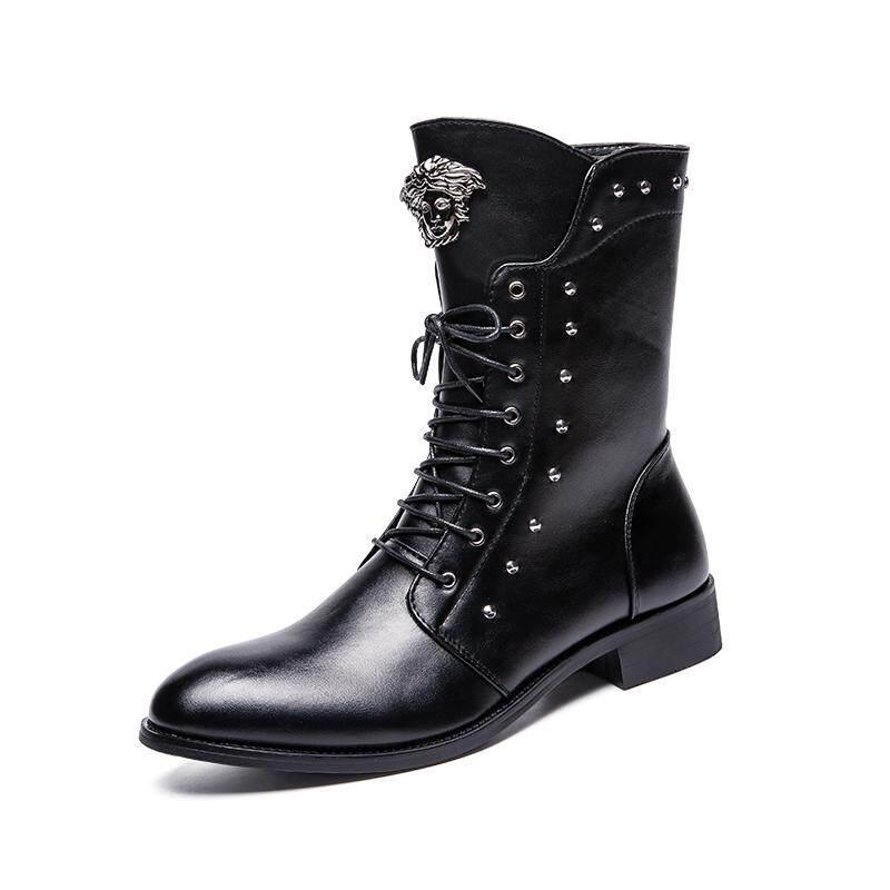 ใหม่รองเท้าบูทเกาหลี, แฟชั่น Plus ผ้าฝ้ายรองเท้าผู้ชาย By South Asia Online Supermarket.