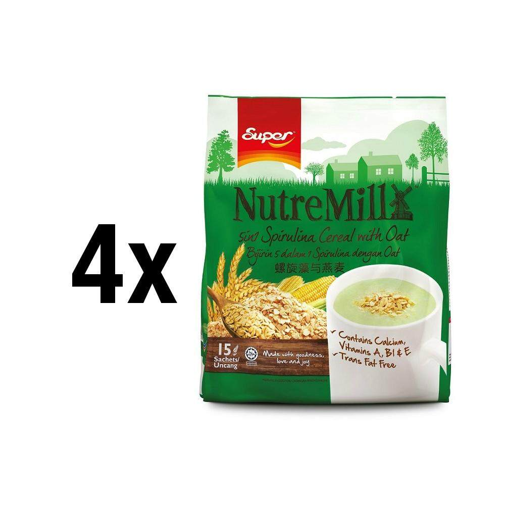 [bundle Of 4] Super Nutremill 5in1 Spirulina With Oat By Super Official Store.