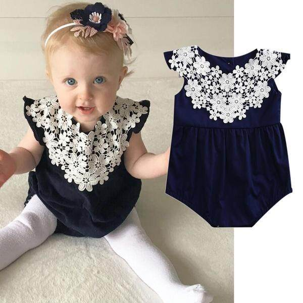 8fe318571 Newborn Infant Baby Girl Romper Jumpsuit Sleeveless Floral Outfit Summer  Sunsuit Playsuit