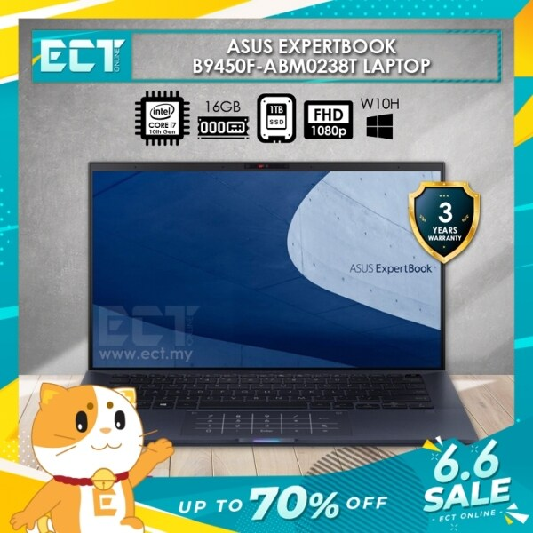Asus ExpertBook B9450F-ABM0238T Laptop (i7-10510U 4.90GHz,16GB,1TB,14 FHD,W10) Malaysia