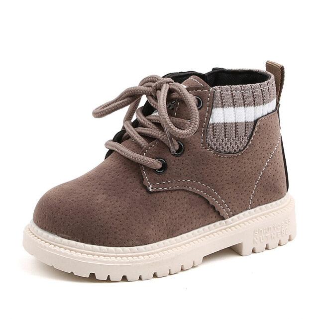 [Hàng Có Sẵn] Giày Cotton Cho Trẻ Em, Bốt Martin Bé Trai Và Vải Bông Bốt Đơn Cổ Điển Cho Bé Gái Bốt Đi Tuyết Đế Mềm Cho Trẻ Em giá rẻ