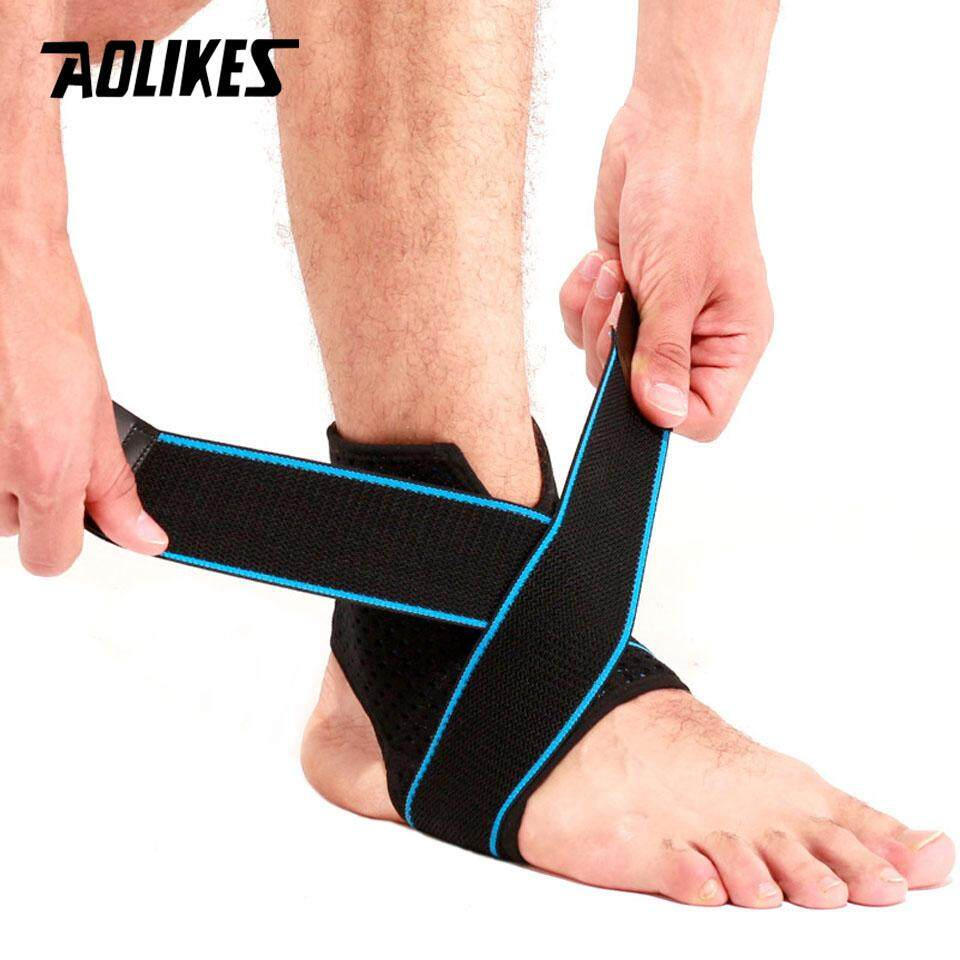 87e10578d844 Product details of 【1 Pair】2019 New Ankle Support Brace Compression Sleeve  with Adjustable Strap for Women Men Ankle Wrap Football Basketball Running
