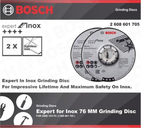 BOSCH 2 PCS Expert for Inox 76 MM Grinding Disc ( 2 608 601 705 )