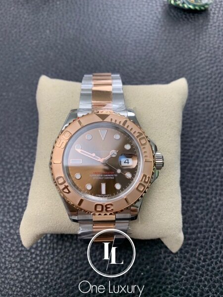 Origin YACHT-MASTER 40MM BROWN DIAL 18K EVEROSE GOLD TWO-TONE 116621 Malaysia