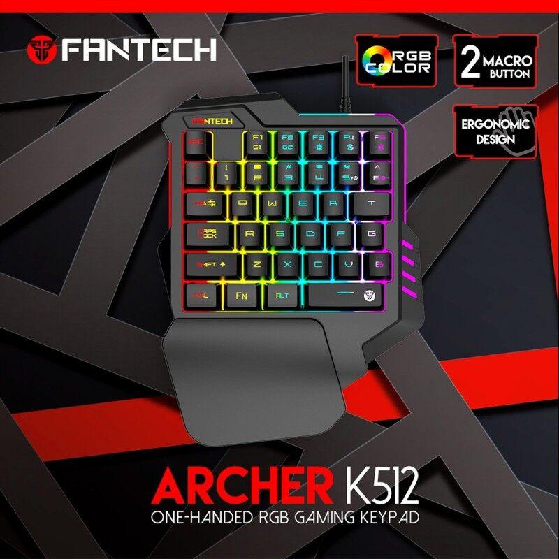 FANTECH ARCHER K512 One-Handed RGB Gaming Keypad Malaysia
