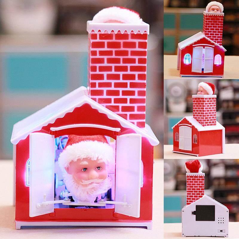 Mã Giảm Giá tại Lazada cho Giáng Sinh Đồ Chơi Giáng Sinh Điện Sang Trọng Búp Bê Leo Lên Ống Khói Ông Già Noel Ngôi Nhà