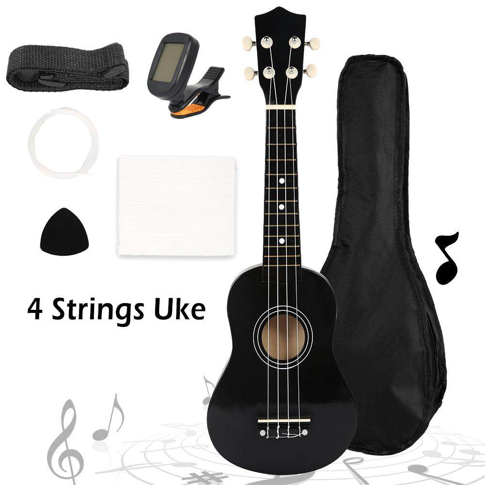 Nhỏ 4 Dây Đồ Chơi Đàn Guitar Đàn Ukulele 4 Dây Soprano Sơ Khai 21 Inch Đàn Guitar Dự Phòng Dây Gói