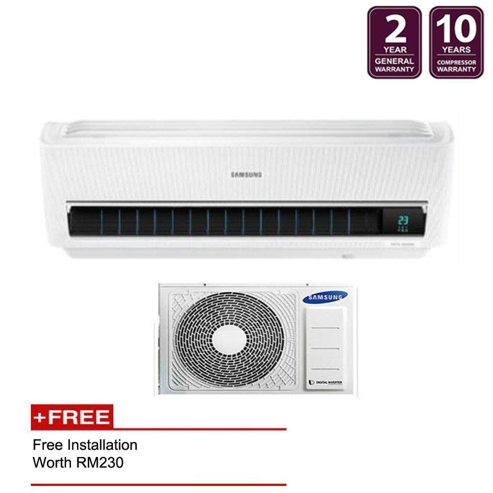 Samsung R32 Inverter Triangle Wall-Mount Air Conditioner with Wind-Free™ Cooling Technology